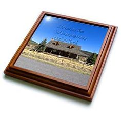 Home is wherever Dad is, for fathers day, a miniature house Trivet