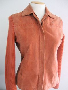 Funky 70's Suede Sweater Jacket Hippie Boho by ErmaJewelsVintage, $40.00