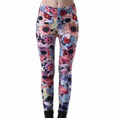 Halloween Day of The Dead Leggings //Price: $13.28 & FREE Shipping //     #sale