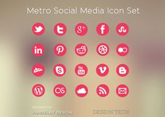 Vandelay Design have again come to our rescue by providing this Free Social Media Icon Set called Metro.