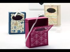 Stampin Up Hinged Soap Gift Box Tutorial - YouTube