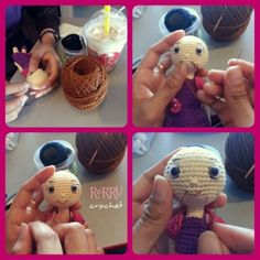 The face-off of the amidoll ^^... Sewing a smile face it's such a fun ^^... (project half done) #amigurumidoll #amigurumi #doll #instacrochet #instacraft #sewing #projecthalfdone #project #half #done #craft #Padgram