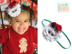 PDF Pattern for making a cute Santa Face Headband or Applique or Decoration for Christmas