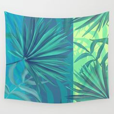 soft tropic Wall Tapestry. #graphic-design #abstract #illustration #nature #pattern #summer #cool #fun-flamingo #sky #blue #palm-tree #africa #contemporary #geometric #graphic #retro #geek #fun #whimsical