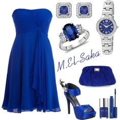 Royal , Silver Blue, created by mohamed-el-saka on Polyvore