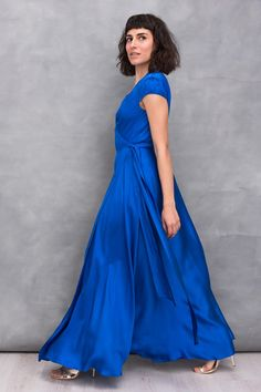 Party Outfits, Simple Lines, Summer Collection, Blue Dresses, Spring Summer, Elegant, Classy, Party Wear, Chic