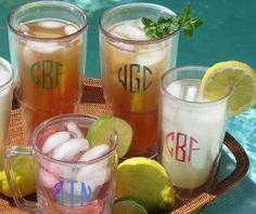 Personalized Big T Tervis Tumbler and Monogrammed Big T Tervis Tumblers - The Monogram Merchant
