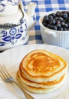 Our Favorite Pancakes without eggs! That's right, our favorite and easy recipe for yummy pancakes, top with fresh fruit, applesauce or yogurt! And you do not need eggs to make them!