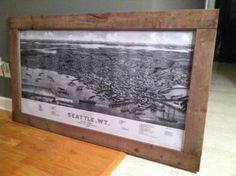 Diy rustic frame frame a vintage map for a rustic look diy make this giant map frame for only 30 diy solutioingenieria Choice Image