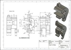 Autocad, Solidworks Tutorial, Isometric Drawing, 3d Drawings, Bike Design, Workout For Beginners, Planer, 3d Modeling, Learning