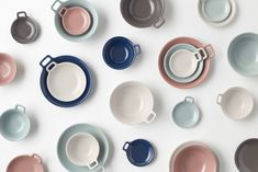 """The 'Totte-Plate' line, where """"totte"""" is the Japanese word for """"handle"""", feature bowls and plates with a small, bracket-shaped handle on their rims, which allow users to carry their bowl of soup as easily as they would a coffee mug.   Instead of storing the bowls and plates in cabinets or on shelves, the handles can be hung from hooks on the wall, making it easier to store in small kitchens and apartments."""