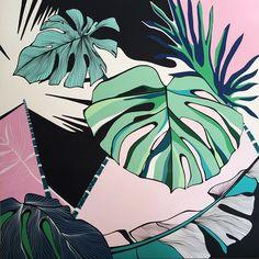 Handpainted Monstera Leaves Illustration | Frunze Monstera Pictate manual