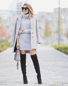 "Stephanie Sterjovski on Instagram: ""Sweater Dress Weather with @riverisland  Now on stephaniesterjovski.com @liketoknow.it www.liketk.it/1OqP8 #liketkit #ootd #fallstyle #wiw #fallfashion #ImWearingRI"""