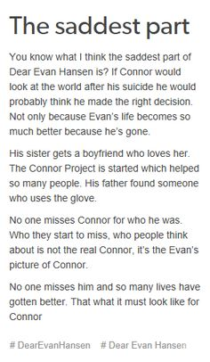 I'm regularly saddened by the fact that we never get to truly know Connor