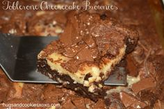 Toblerone Cheesecake Brownies - Hugs and Cookies XOXO