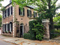 brick and stucco historic Charleston house