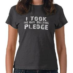 Anti Bullying Pledge Tee Shirts by Awearness
