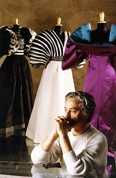 Roberto Capucci with his Creations