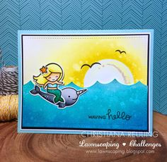 Christy Gets Crafty: Waving Hello - Lawnscaping Challenge #133