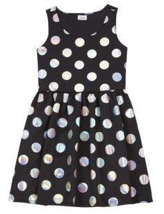 Foil Dot Dress for girls $15