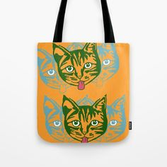 Mollycat Orange Tote Bag by artgaragefinland Orange Tote Bags, Orange Bag, Orange Accessories, Small Cat, Orange Is The New Black, Reusable Tote Bags, Friends, Cats, Artwork