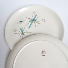 Salem Ovenproof China in \ North Star\  Pattern dinner plate (1) by & Salem Ovenproof Daybreak Platters and Large Dinner Plates (9) by ...