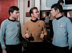 Kirk gives it two thumbs up. Spock & McCoy aren't quite so sure...