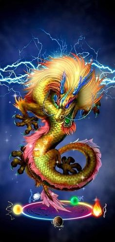 Magic chinese dragon - Famous Last Words Mythical Creatures Art, Fantasy Creatures, Arte Digital Fantasy, Dark Fantasy, Fantasy Art, Arte Cholo, Mythical Dragons, Fire Breathing Dragon, Chinese Dragon Tattoos