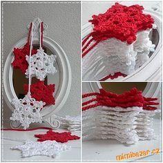 ♥♥♥ Vločkové hvězdičky podle Pavlínky ♥♥♥ Crochet Angels, Crochet Stars, Crochet Snowflakes, Crochet Doilies, Crochet Christmas Ornaments, Christmas Snowflakes, Christmas Crafts, Crochet Crafts, Crochet Projects