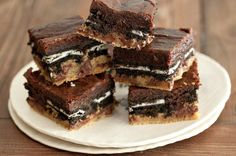 """<p>AKA the infamous """"Slutty Brownies"""" because they are filthy, indulgent and delicious!</p> <p><strong><a href=""""http://whatsgabycooking.com/slutty-brownies/#.VPSEd7PF-9-"""" target=""""_blank"""">Get the recipe here: SLUTTY BROWNIES</a></strong></p>"""
