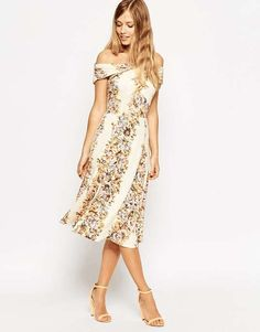 Love the ASOS Bardot Wrap Midi Dress in Vintage Floral on Wantering.