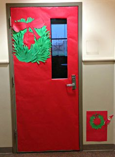 Elf on the Shelf ideas in a classroom- small door for the elf! SO cute!