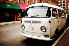 White Hippie Bus 8x12 Fine Art Photography Peace by laughlovephoto, $30.00