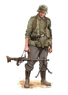 MG-34: A German machine gunner with an MG-34.