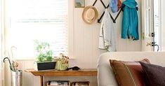Foyer, Entryway, Lake Decor, Porch Decorating, Sunroom, Porches, Wardrobe Rack, Diy Ideas, Sweet Home