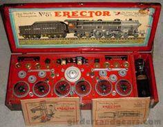 1932 No. 8½ Hudson and Tender Erector Set - Girders & Gears