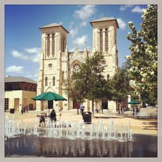 Ferdinand Cathedral in San Antonio - they have great food trucks at lunch out front!