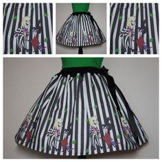 Beetlejuice, Beetlejuice, Beetlejuice Skirt, All Sizes, Plus Size by SassySkirtsForGals on Etsy