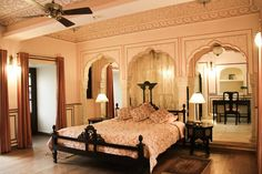Luxurious, charming and #Royal.... The rooms at Royal Heritage Haveli Jaipur are unique and memorable...
