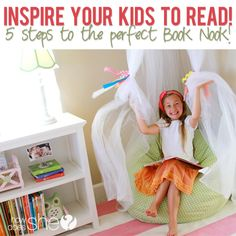 Inspire your kids to read, 5 steps to the perfect Book Nook! | from http://www.howdoesshe.com #booknookchallenge