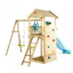Lookout Tower Play Centre by Plum. Get it now or find more Outdoor Play Equipment at Temple & Webster. Kids Backyard Playground, Playground Set, Backyard For Kids, Kids Outdoor Play, Kids Play Area, Cubby Houses, Play Houses, Wooden Climbing Frame, Outdoor Play Equipment