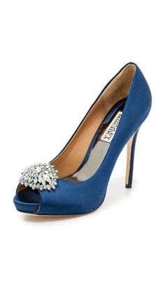 Blue Badgley Mischka Jeannie Peep Toe Pumps- perfect for a something blue!
