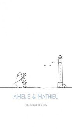 Menu de mariage (wedding menu) : Promesse - by Marion Bizet pour http://www.fairepart.fr #mariage #wedding #menu