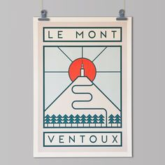 ROUTES  Le Mont Ventoux by TheHandmadeCyclist on Etsy