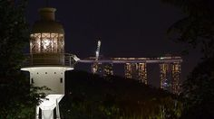 Fort Canning lighthouse shines again