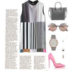 Senza titolo #11 by giuliamulonia on Polyvore featuring polyvore, fashion, style, Christian Louboutin, Charles Jourdan, Charlotte Russe and Linda Farrow