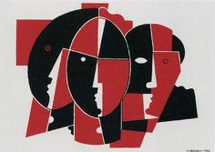 Henryk Berlewi – Three masks, 1922