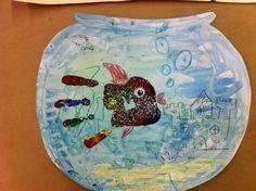 preschool sea life crafts | Fish+artwork+for+kids