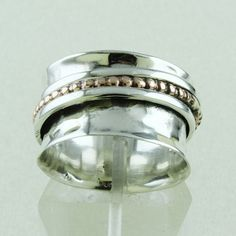 High Quality Designer Plain Silver Spinning Ring_Hand Made 925 Sterling Siver #SilvexImagesIndiaPvtLtd #Band