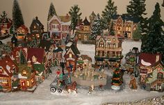 I can't wait to put my Christmas village up this year!